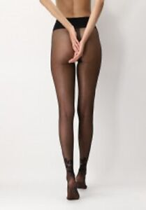 Oroblu Tights micro polka dots on a sheer base, details floral design, pearl