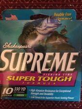 Shakespeare Supreme Super Tough Fishing Line 10 Lb. 330 Yd Green - New
