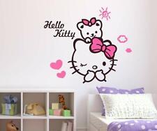 Hello Kitty Pegatina Arte Diseño Adhesivo de Pared Niños Decoración Hogar