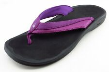 OluKai Size 8 M Purple Flip Flop Synthetic Women Sandal Shoes