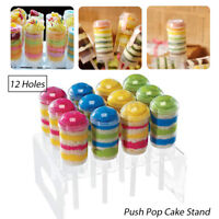 Acrylic 12 Holes Cupcake Push Pop Stand Lollipop Cake Display Holder Clear 7.8""