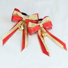 Showquest Christmas Piggy Bows - Pack of 2 - Horse, Cob, Pony, - Christmas Fun
