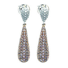 1.30ct Fancy Pink Diamonds Earrings 18K All Natural 4.6 Grams Real Rose Gold