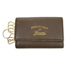 GUCCI Logos Six Hooks Key Case Brown Leather 354499.0416 Authentic BT15271c
