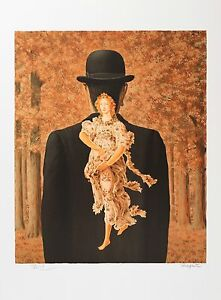 René Magritte - The Ready-Made Bouquet (signed & numbered lithograph)