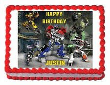 TRANSFORMERS PRIME edible party cake topper cake image sheet decoration