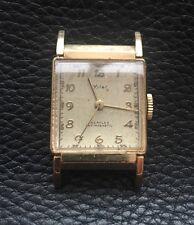 Wyler Incaflex Gold Curvex Rectangular Gents Wristwatch 1940's Just Seviced