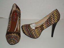 Two Lips Women's Swizzle Multi Color Platform Pump Heels Size 8.5 NEW