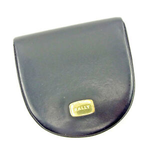 Bally Wallet Purse Coin Purse Black Woman unisex Authentic Used S696