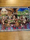 Vintage Rare Pups At Play Playing Cards At A Bar Wall or Rug Tapestry 68 L x 48