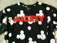 Mickey Mouse girls Large black crew top