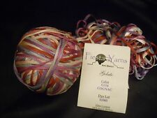 "1 Skein 3oz + 1 Ball = 3-4 Skeins Fiesta ""Gelato"" Ribbon Yarn Cognac G114  lot7"
