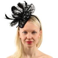 CC Sinamay Ribbon Feathers Fascinators Headband Cocktail Derby  Church Hat