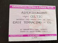 Sammler Used Ticket / Entrada Airdrieonians v Celtic Glasgow FC 29-08-1992