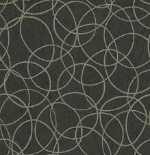 Wallpaper Designer Gray Circles on Charcoal Black Faux