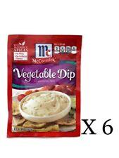 6 McCormick Vegetable Dip Seasoning Mix PacketsREAD BEST BY DATES