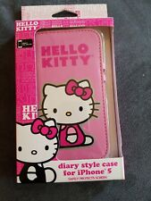 Sanrio Hello Kitty Diary Style Case for iPhone 5 Pink NIP slots for id cards
