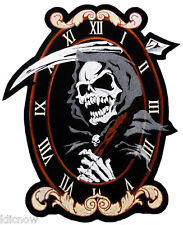 Milieu Doigt squelette moto large Biker back patch brodé sew iron on