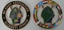US Army Assn Djibouti cutout coin by Phoenix Challenge Coins