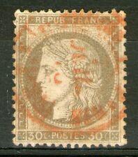 FRANCE:  n°56 oblitéré CàD rouge des imprimés  (cote 40€)
