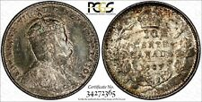 Canada Edward VII Silver 1907 10 Cents PCGS AU55 KM# 10