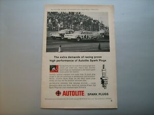 1960 AUTOLITE Spark Plugs--vintage ad from nice private estate collection--'60