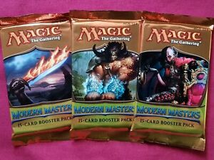 MTG Magic The Gathering MODERN MASTERS 2013 New Sealed Booster ALL 3 PACK ART