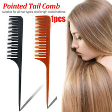 New Tail Fork Teeth Hair Comb  Carbon Heat Resistant Fine-tooth Rat Tail Comb