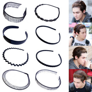 Unisex Men Women Sports Metal/Plastic Wave HOOP Hair Band Hairband Headband Wavy