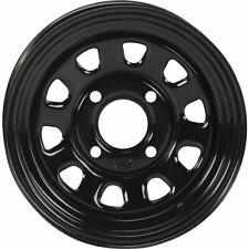 Black 12x7, 4/110, 5+2 Itp Delta Steel Wheel - 1225553014