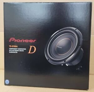"""Pioneer TS-D10D4 D-Series 10"""" Subwoofer with Dual 4-ohm Voice Coils NEW"""