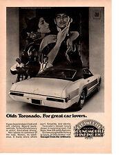 1969 OLDSMOBILE TORONADO  ~  ORIGINAL PRINT AD