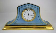 Antique Large Sterling & Blue Guilloche Enamel Clock