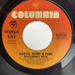 Earth Wind & Fire Departure / Saturday Nite 45 RPM Record Vinyl