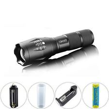 Comunite 2000LM CREE XML T6 LED Tactical Zoomable Flashlight + 18650 Battery