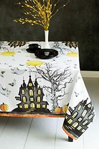 "Printed Halloween Fabric Tablecloth () 60"" x 120"" Rectangular Haunted Mansion"