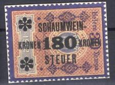 Austria revenue tax on sparkling wine 180 K on 30 H Stempelmarke