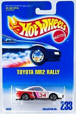 Hot Wheels #233 Toyota MR2 Rally White #34 SB's 1995 New On Card