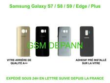 VITRE ARRIÈRE CACHE BATTERIE POUR SAMSUNG GALAXY S7 / S8 / S9 EDGE PLUS ADHESIF