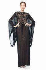 New tadashi shoji chiffon dress beaded black size xs
