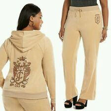JUICY COUTURE XXL Velour SWIRL SAND Tracksuit (Womens PLUS Size 2X) NWT