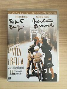 Benigni _ La Vita è Bella _ DVD + BluRay Special Ed. 20° AUTOGRAFATO SIGNED