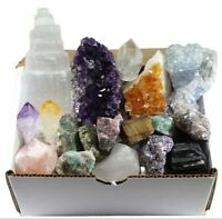 18 pc Raw Crystal Healing Set-Raw Crystal Set-Amethyst Cluster-Celestite-Citrine