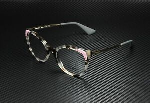 PRADA PR 12UV UAO1O1 Catwalk Spottd Opal Brown Demo Lens 51mm Women's Eyeglasses