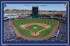 KAUFFMAN STADIUM - KANSAS CITY ROYALS POSTER - 22x34 MLB BASEBALL 14048