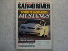 Car and Driver 1995 April Hot Rod Mustangs Cobra R Pontiac Grand Prix 300GPX