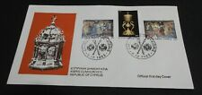 Republic of Cyprus 1982 Official First Day Cover FDC CHRISTMAS 1982 ZYPERN !!!