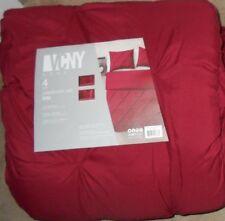 VCNY Home Carmen Burgundy Pintuck 4 Piece King Comforter Set NWT