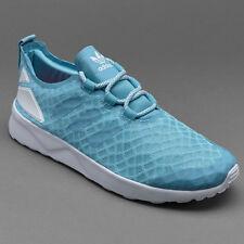 ADIDAS  ZX FLUX VERVE women 's trainers  -sky blue , size UK 5
