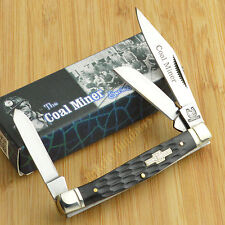 Rough Rider Coal Miner Series Black Jigged Bone Stockman Pocket Knife RR759
